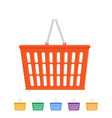 plastic shopping basket vector image vector image