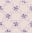 pretty tiny flower pansy blooms pattern seamless vector image vector image