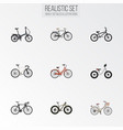 realistic fashionable bmx retro and other vector image vector image