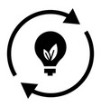 recycling bulb energy icon simple style vector image vector image