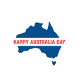 red and blue australia day icon vector image vector image