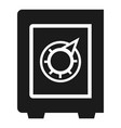 safe money box icon simple style vector image
