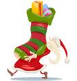 santa claus christmas cartoon vector image
