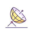 satellite dish rgb color icon vector image vector image