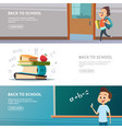 school banners of back to school vector image vector image