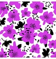 Seamless floral background Isolated blooming vector image vector image