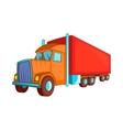 Semi trailer truck icon cartoon style vector image vector image