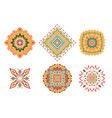 set of colored elements vector image vector image