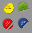 Set of colorful round labels in your pocket vector image vector image