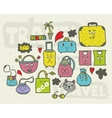 Set of doodle bags vector image