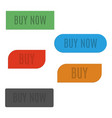 set of stylish buttons buy vector image