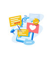 social networks and online communications vector image