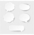 speech bubble set transparent background vector image vector image
