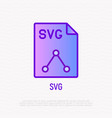 svg file format thin line icon modern vector image vector image