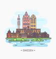 sweden national landmarks in stockholm gamla stan vector image vector image