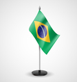 Table flag of Brazil vector image vector image
