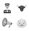 taxi animal and other monochrome icon in cartoon vector image vector image