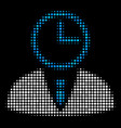 time manager halftone icon vector image vector image