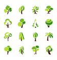 trees - logo template set vector image