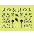 Flat Alchemy Icons vector image