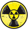 grunge nuclear power sign vector image