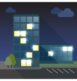 Office Building flat with long shadow vector image