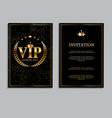 abstract luxury vip members only invitation vector image vector image