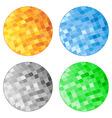 abstract tile circles vector image vector image