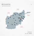 afghanistan infographic map vector image vector image