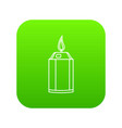 beautiful candle icon green vector image vector image
