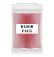 blood pack vector image