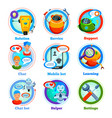 chat bot flat icons vector image