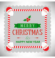 christmas card with santa clause frame vector image