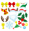 christmas set for decoration vector image