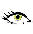 comic styled eye vector image