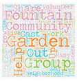 Community Gardens Can Change Lives text background vector image vector image