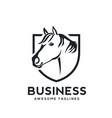 creative horse shield logo vector image vector image