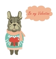 Cute dog wants to be a Valentine vector image vector image