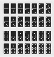 domino full set dominoes bones signs isolated vector image vector image