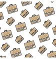 doodle business briefcase object style background vector image