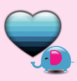 Elephant in love on Valentines Day vector image vector image