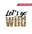 fashionable tshirt design with leopard pattern vector image vector image
