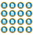 file format icons blue circle set vector image vector image