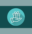 gift box - icon for graphic and web design vector image