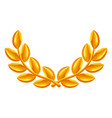 gold laurel wreath icon award vector image