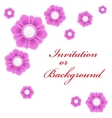 Greeting card or background with light pink flower vector image