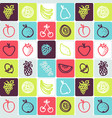 hand drawn icons set - food 3 vector image