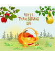 happy thanksgiving day card beautiful autumn vector image vector image