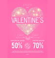 happy valentine s day design template with glossy vector image vector image