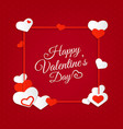 happy valentines day abstract background with vector image vector image
